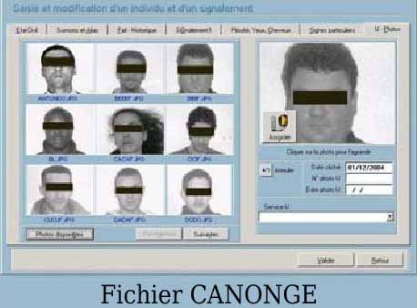 CANONGE - Police Scientifique - Organisation