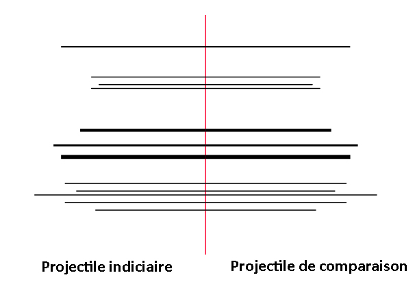 stries projectile comparaison traces armes à feu