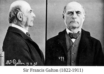 Francis Galton légende - Police Scientifique - Historique