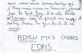 lettre affaire grégory écriture