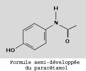 formule paracetamol - concours Ingénieur de Police Scientifique